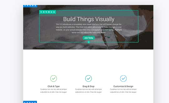 Divi 3.0 is here – Visual editing at it's best